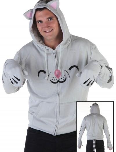 Mens Soft Kitty Hoodie, halloween costume (Mens Soft Kitty Hoodie)