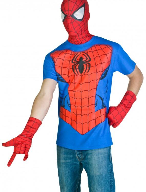 Mens Spiderman Costume T-Shirt, halloween costume (Mens Spiderman Costume T-Shirt)