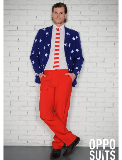 Men's OppoSuits Stars and Stripes Suit, halloween costume (Men's OppoSuits Stars and Stripes Suit)