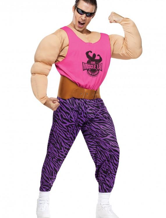 Men's Super Strong Man Costume, halloween costume (Men's Super Strong Man Costume)