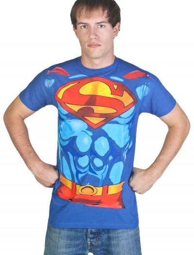 Men's Superman Costume T-Shirt, halloween costume (Men's Superman Costume T-Shirt)