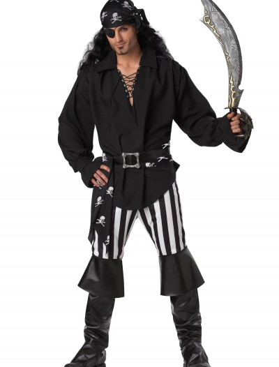 Mens Swashbuckler Pirate Costume, halloween costume (Mens Swashbuckler Pirate Costume)