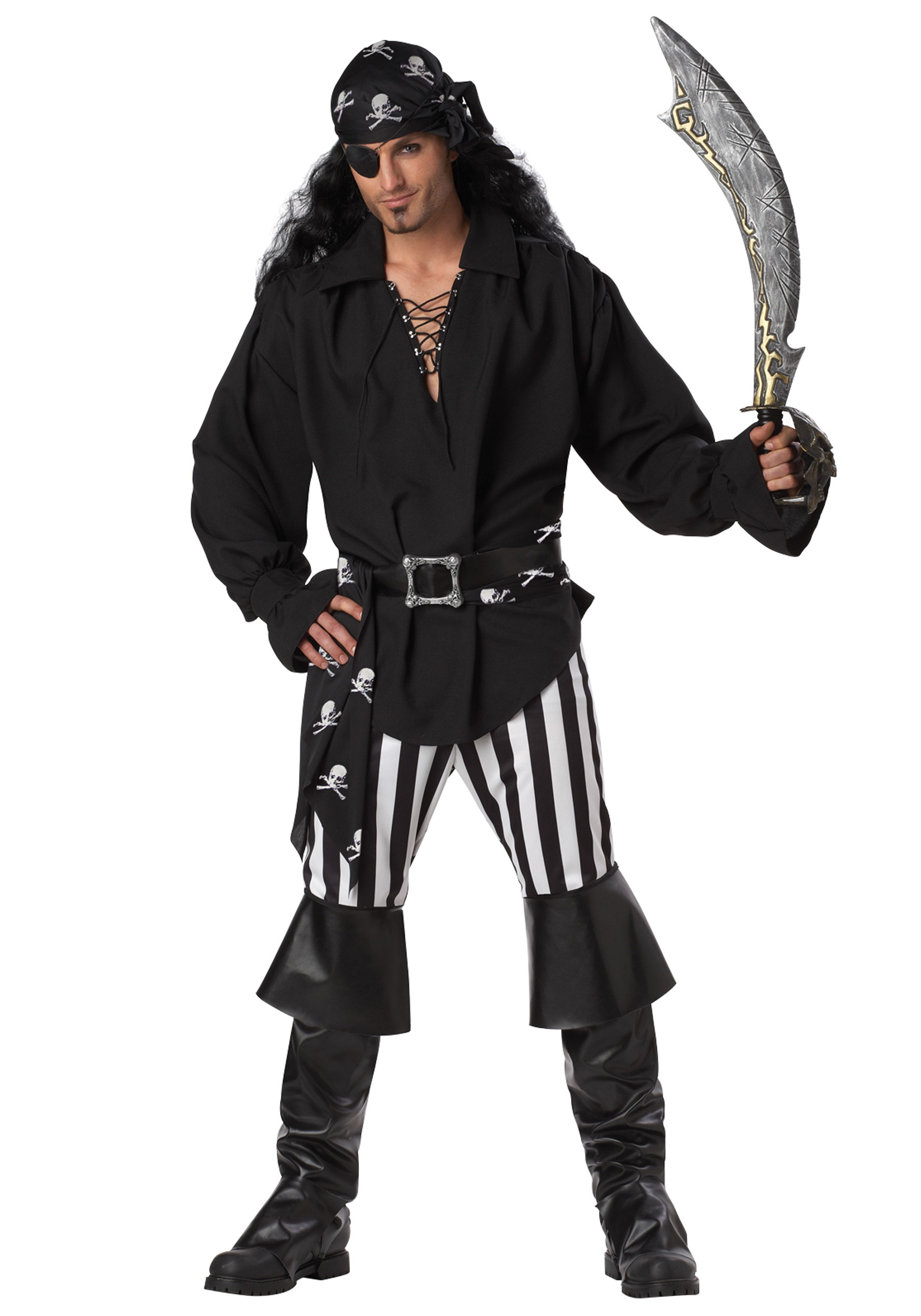 Mens Swashbuckler Pirate Costume  sc 1 st  Halloween Costumes & Mens Swashbuckler Pirate Costume - Halloween Costumes