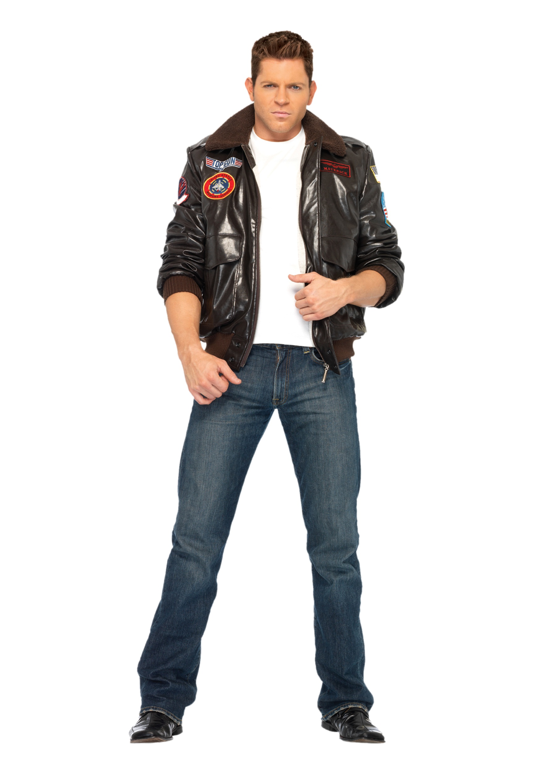 Back to80u0027s Costumes Adult Costumes Menu0027s Costumes Military Costumes Pilot Costumes Theme Costumes Top Gun Costumes TV / Movie Costumes ...  sc 1 st  Halloween Costumes & Mens Top Gun Bomber Jacket - Halloween Costumes