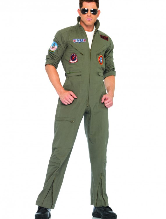 Mens Top Gun Flight Suit, halloween costume (Mens Top Gun Flight Suit)
