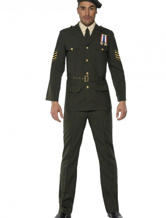 Mens Wartime Officer Costume, halloween costume (Mens Wartime Officer Costume)