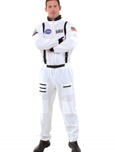 Men's White Astronaut Costume, halloween costume (Men's White Astronaut Costume)