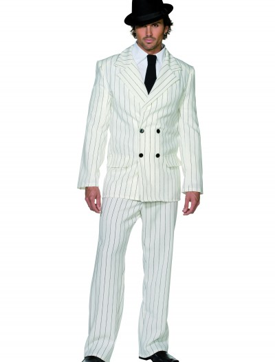 Mens White Gangster Costume, halloween costume (Mens White Gangster Costume)