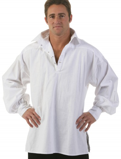 Men's White Renaissance Shirt, halloween costume (Men's White Renaissance Shirt)