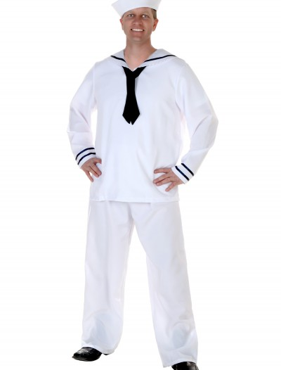 Men's White Sailor Costume, halloween costume (Men's White Sailor Costume)