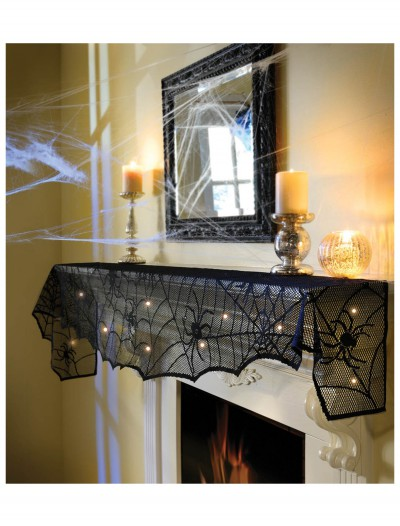 Midnight Lace Mantle Scarf w/ Lights, halloween costume (Midnight Lace Mantle Scarf w/ Lights)