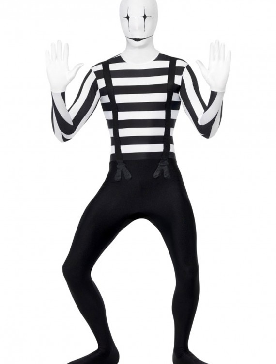 Mime Second Skin Costume, halloween costume (Mime Second Skin Costume)