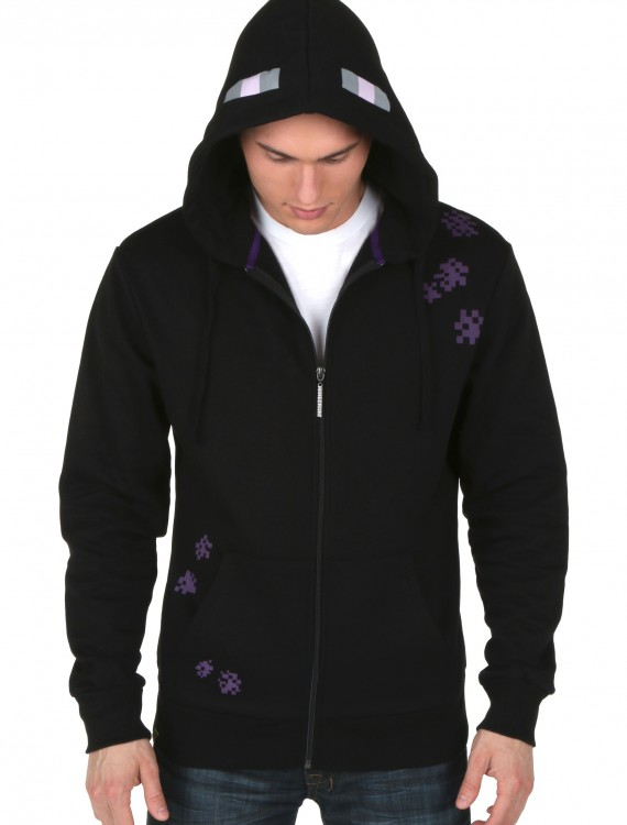 Minecraft Enderman Zip-Up Hoodie, halloween costume (Minecraft Enderman Zip-Up Hoodie)
