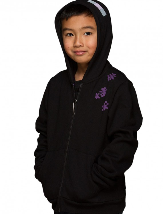 Minecraft Enderman Zip-Up Youth Hoodie, halloween costume (Minecraft Enderman Zip-Up Youth Hoodie)