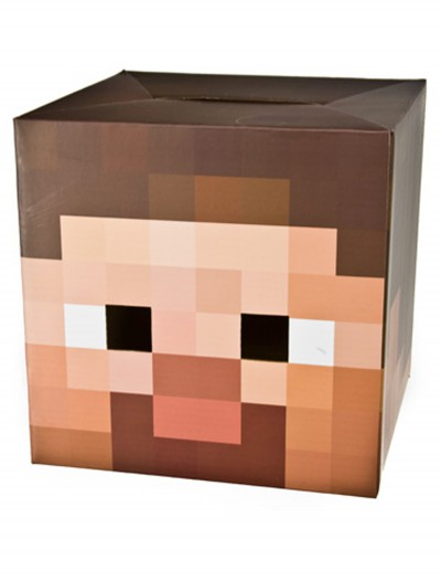 Minecraft Steve Head, halloween costume (Minecraft Steve Head)