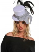 Mini White Burlesque Hat, halloween costume (Mini White Burlesque Hat)