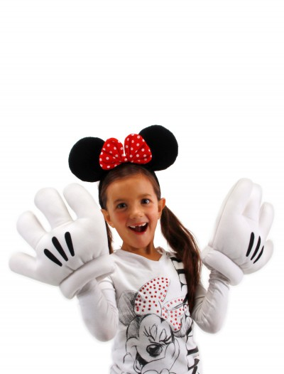 Minnie Ears & Glove Set, halloween costume (Minnie Ears & Glove Set)
