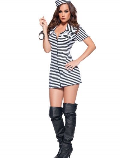 Miss Behaved Prisoner Costume, halloween costume (Miss Behaved Prisoner Costume)