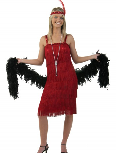 Miss Millie Red Flapper Costume, halloween costume (Miss Millie Red Flapper Costume)