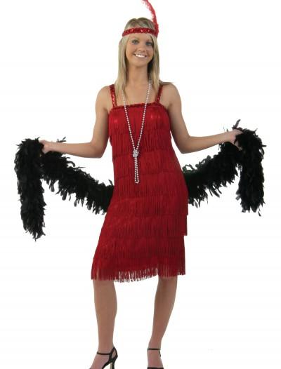 Miss Millie Red Flapper Costume, halloween costume (Miss Millie Red Flapper Costume)