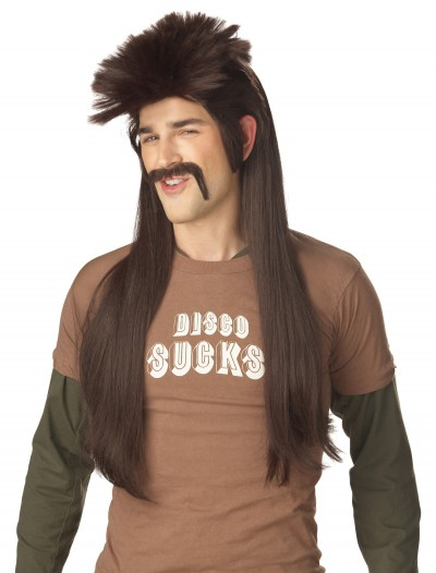 Mississippi Mud Flap Wig and Mustache, halloween costume (Mississippi Mud Flap Wig and Mustache)