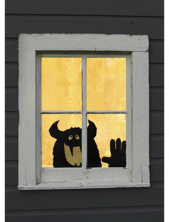 Monster Peek A Boo Window Treatment, halloween costume (Monster Peek A Boo Window Treatment)