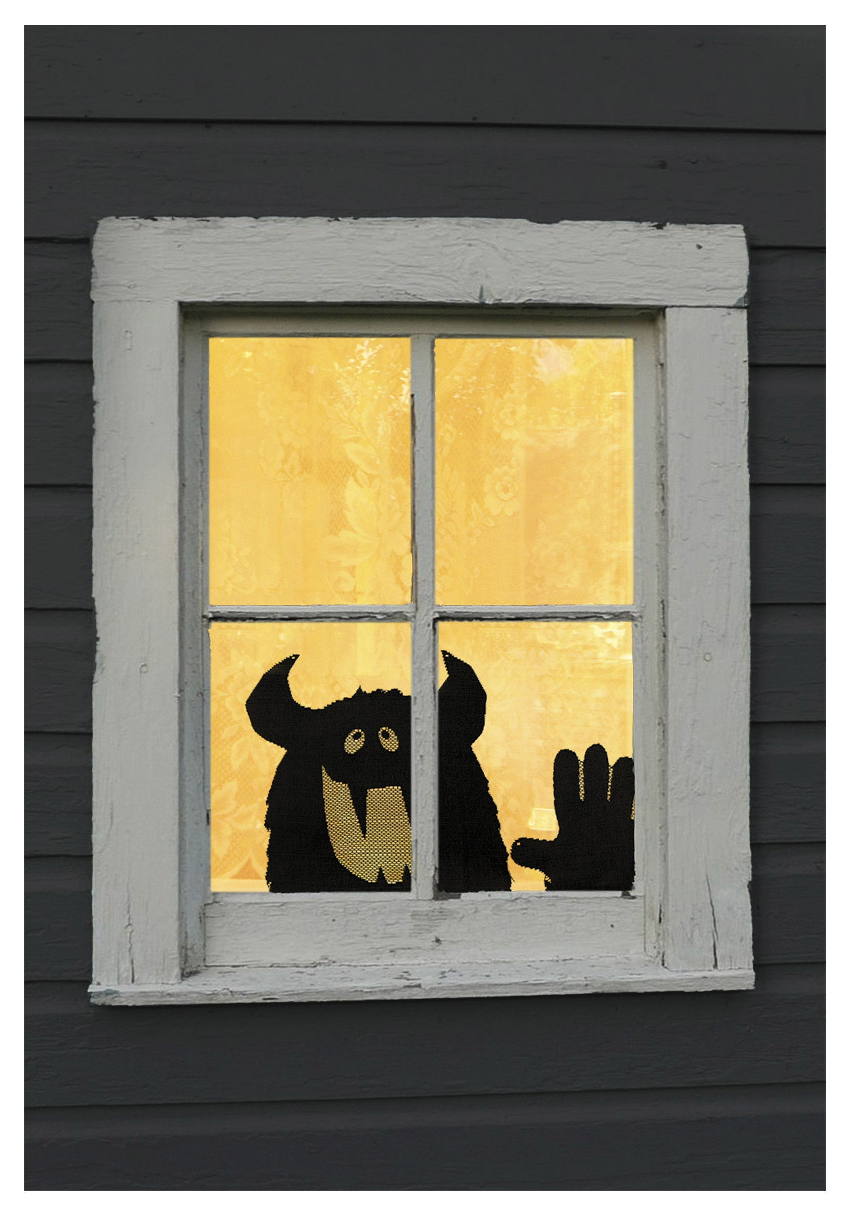 decor easy cheap window a diy monsters decorations halloween drawing monster wired