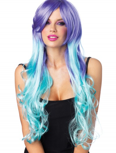Moonlight Long Curly Wig With Optional Pony Tail Clips, halloween costume (Moonlight Long Curly Wig With Optional Pony Tail Clips)