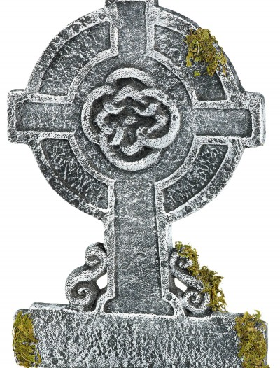 Mossy Celtic Cross Tombstone, halloween costume (Mossy Celtic Cross Tombstone)