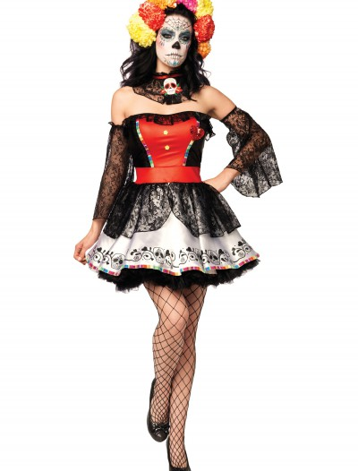 Muerta Sugar Skull Costume, halloween costume (Muerta Sugar Skull Costume)