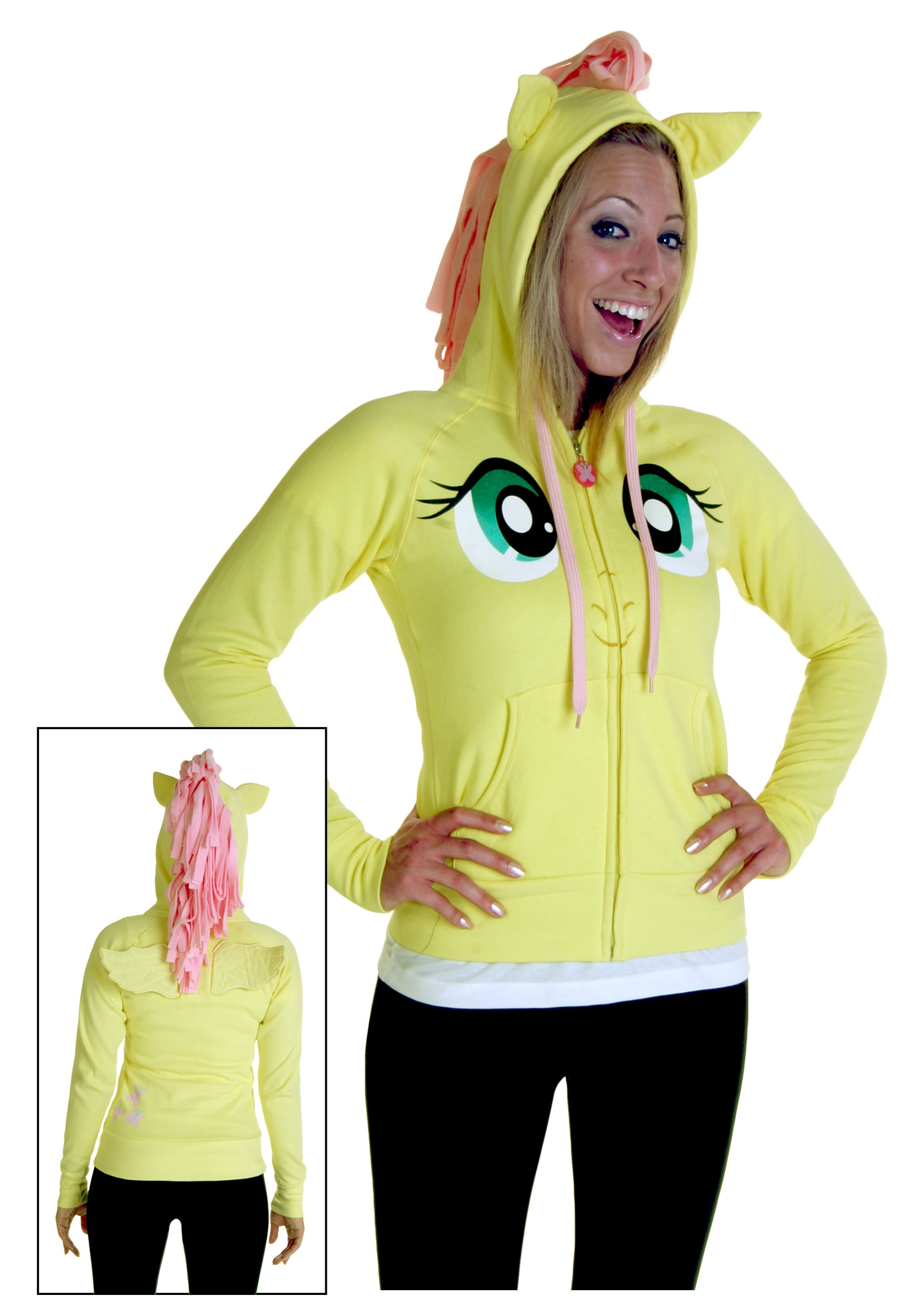 my little pony fluttershy face hoodie - halloween costumes