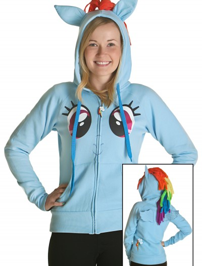 My Little Pony Rainbow Face Hoodie, halloween costume (My Little Pony Rainbow Face Hoodie)