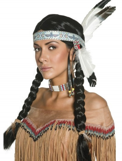 Native Indian Wig, halloween costume (Native Indian Wig)