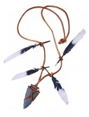 Native Warrior Necklace Arrow Head, halloween costume (Native Warrior Necklace Arrow Head)