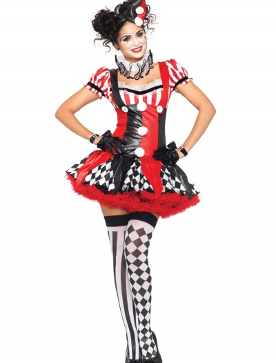 Naughty Harlequin Clown Costume, halloween costume (Naughty Harlequin Clown Costume)