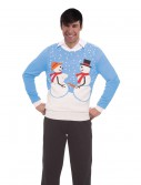 Naughty Snow Couple Christmas Sweater, halloween costume (Naughty Snow Couple Christmas Sweater)
