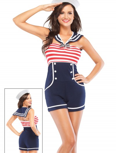 Nautical Pin Up Sailor Costume, halloween costume (Nautical Pin Up Sailor Costume)