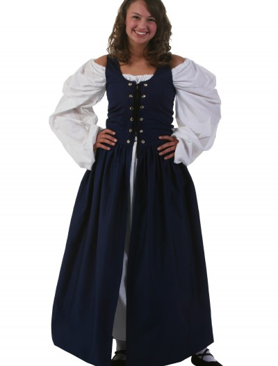 Navy Irish Renaissance Dress, halloween costume (Navy Irish Renaissance Dress)