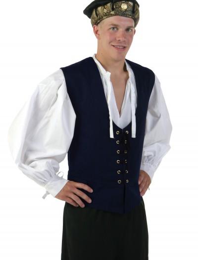 Navy Renaissance Vest, halloween costume (Navy Renaissance Vest)