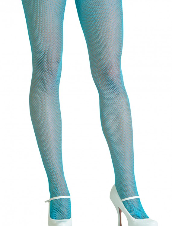 Neon Blue Fishnet Tights, halloween costume (Neon Blue Fishnet Tights)
