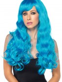 Neon Blue Long Wig, halloween costume (Neon Blue Long Wig)