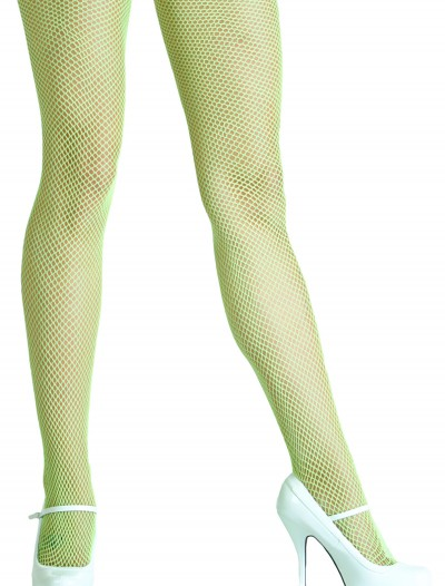 Neon Green Fishnet Tights, halloween costume (Neon Green Fishnet Tights)