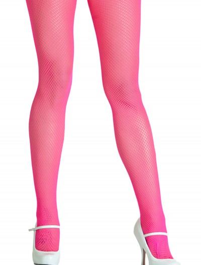Neon Pink Fishnet Tights, halloween costume (Neon Pink Fishnet Tights)