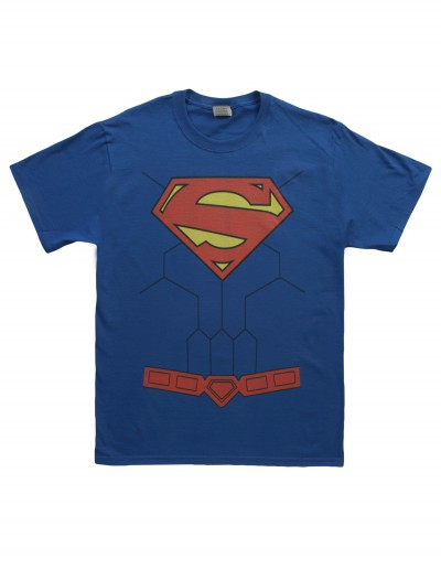 New 52 Torso Superman Costume T-Shirt, halloween costume (New 52 Torso Superman Costume T-Shirt)