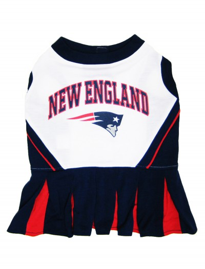 New England Patriots Dog Cheerleader Outfit, halloween costume (New England Patriots Dog Cheerleader Outfit)