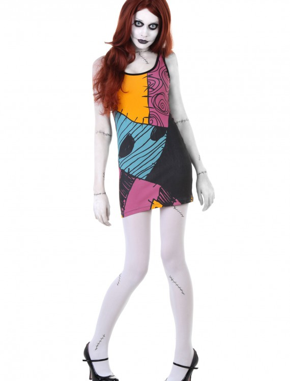 Nightmare Before Christmas Sally Tunic Tank, halloween costume (Nightmare Before Christmas Sally Tunic Tank)