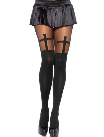 Opaque Cross Pantyhose, halloween costume (Opaque Cross Pantyhose)