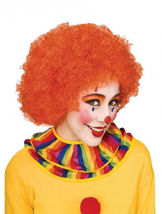 Orange Afro Clown Wig, halloween costume (Orange Afro Clown Wig)