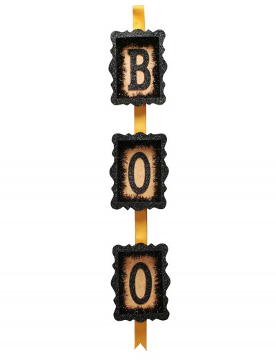 Orange & Black Boo Sign, halloween costume (Orange & Black Boo Sign)