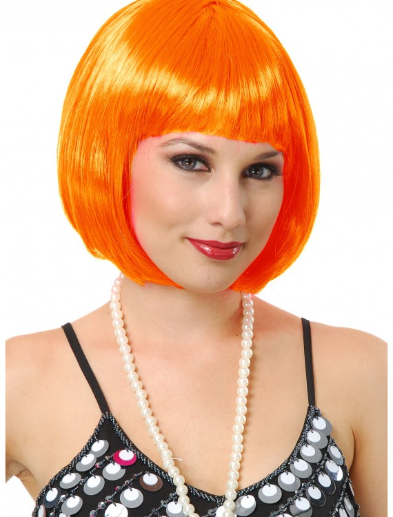 Orange Bob Wig, halloween costume (Orange Bob Wig)